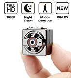 Mini Hidden Camera Spy Camera Portable Wireless Security Camera with Night Vision/Motion detection/HD 1080P Cam for Home Office Warehouse Travelling