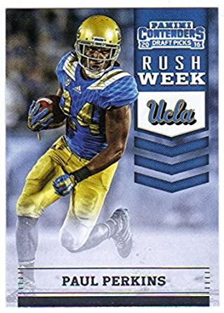 6e984a96f Football NFL 2016 Panini Contenders Draft Picks Rush Week  3 Paul Perkins   3 NM+