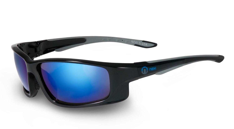 Nexi Sportbrille Sonnenbrille S-10A, schwarz/blau