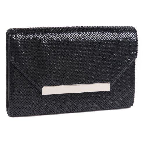 Black Evening Chian Envelope Shoulder Bag Clutch Bag Damara Women's qfUn16vv