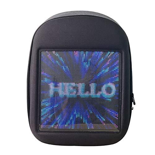 Novel Smart LED Backpack Cool Black Customizable Laptop Backpack Innovative Birthday Gift School Bag (Black) (Best Laptop For Android Programming)