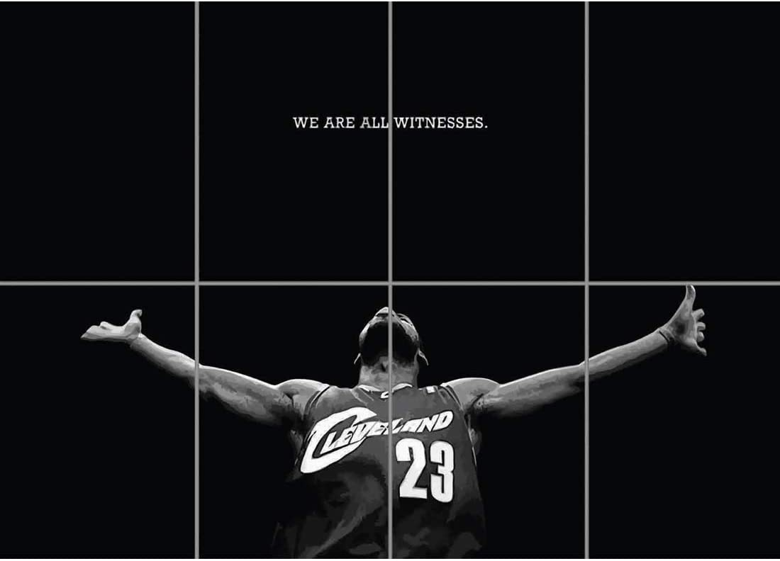 Doppelganger33 LTD Lebron James Poster - Basketball Giant Art Print EN448