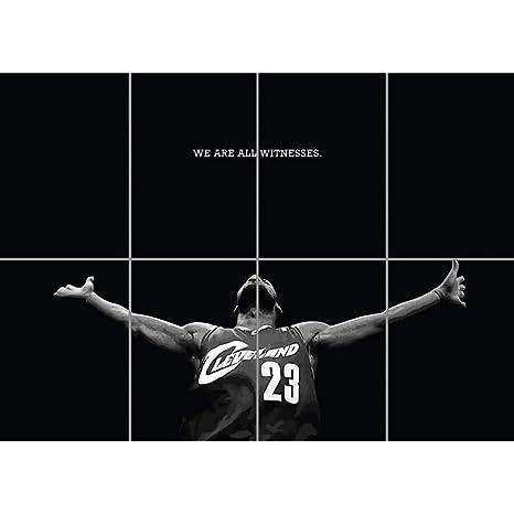 03d08b5385c61 Doppelganger33 LTD Lebron James Poster - Basketball Giant Art Print EN448