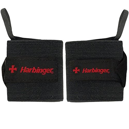 Harbinger 20 Inch WristWraps Thumb Weightlifting