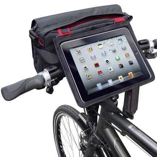 KLICKfix PadBag - handlebar bike bag with compartment for iPad, Tablet PC