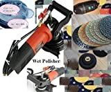 "7"" Variable Speed Wet Polisher Dust Shroud 7 Inch Diamond Polishing Pad concrete Granite Marble Stone Quartz Masonry Countertop floor tile grinder smoothing buffing renew repair -  Asia Pacific Construction"