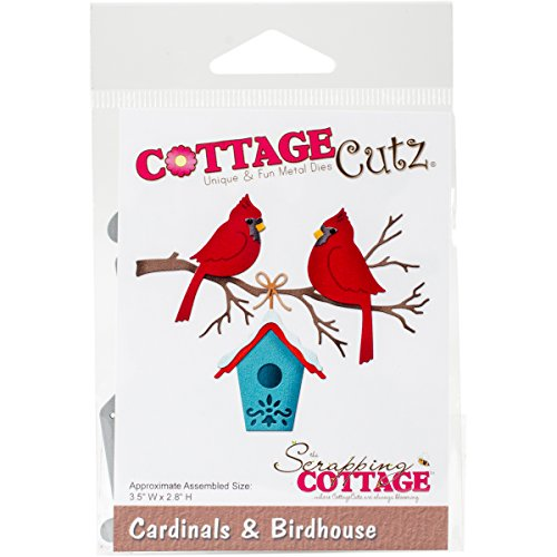 CottageCutz CC-176 Die-Cardinals and Birdhouse, 3.5 feet x2.8 inches