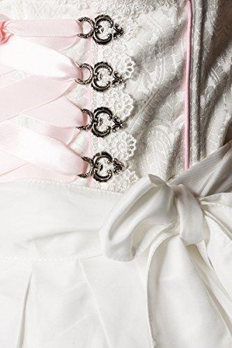 Brokat 2 34;Farbe Paspelierung Spitzenbesatz abgesetzte mint aus amp; Pastell schimmerndem A7O023 Dirndl Schürze tlg Größe Kleid DIRNDLINE und qaUzOExw