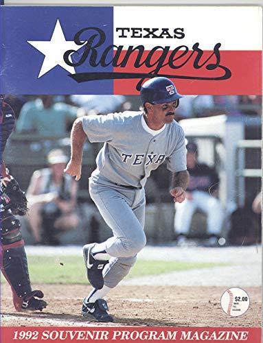 Texas Rangers Vs.Minnesota Twins Program June 2, 1992 Dickie Thon on Cover)
