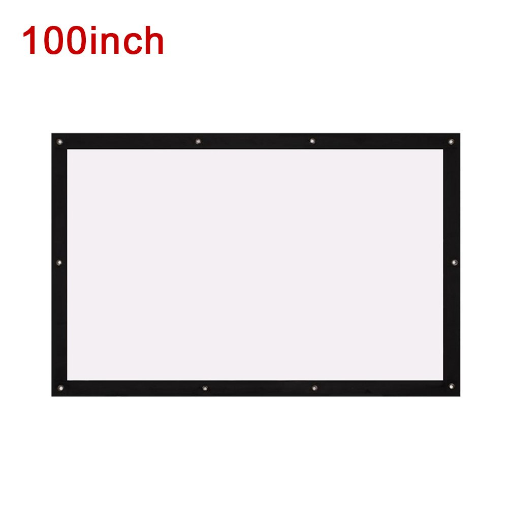 Folded Projection Screen Movie Screen Portable 16:9 40/72/100/120'' Oudoor Gaming_100 Inch