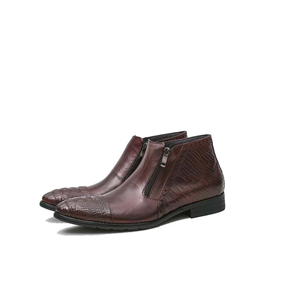 GLSHI Herren Stiefeletten Geschäft Kleid Schuhe Reißverschluss Stiefel Mode