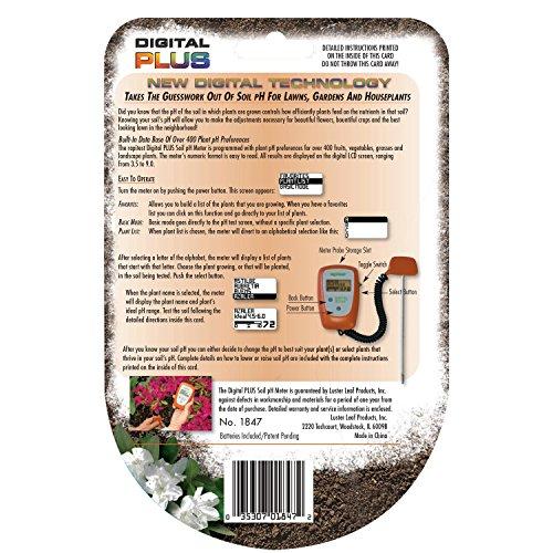 luster leaf 1840 rapitest soil ph meter instructions