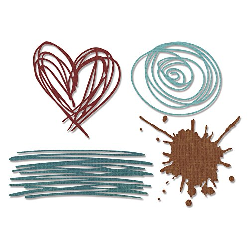 Sizzix Thinlits Die, Scribbles & Splat by Tim Holtz, 4 Pack