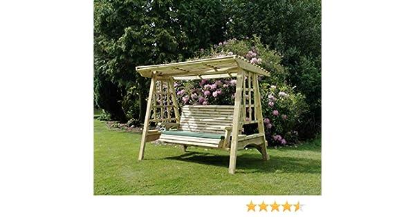 Columpio de jardín de madera. Hamaca de jardín para columpios, muebles de jardín: Amazon.es: Jardín