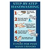 "DayMark IT112092 Laminated Workplace Safety and Educational Poster, Step-By-Step Hand Washing, 11"" x 17"""