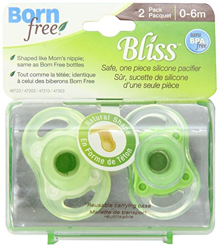 BPA-Free Bliss Natural Shape Pacifier, Neutral, 0-6M