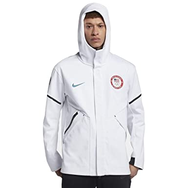 ad6f4f871043 NIKE Men s 2018 USA Tech Fleece Windrunner Winter Olympic Team Jacket  (Large)