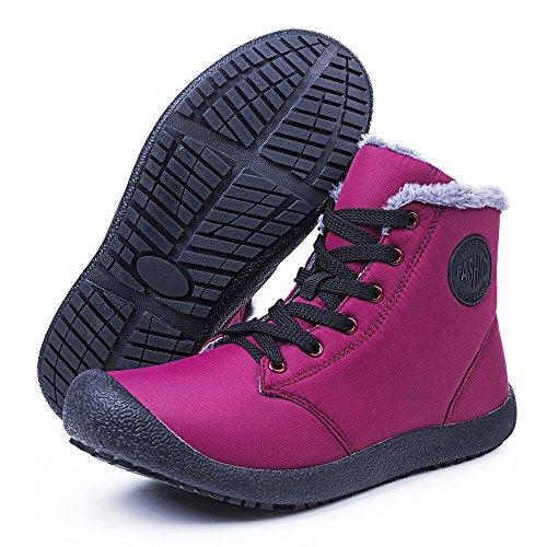 Tempo Caviglia il Donna Invernali Neve per Stivali Uomo e Invernali FLARUT Libero per Rose Scarpe Antiscivolo Boots Stivaletti Scarpe Calde OqA44wS