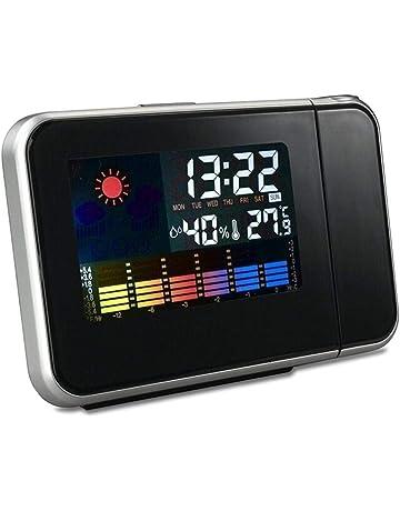 LeKing Reloj Despertador Electrónico Multifuncional LCD Proyección Digital Reloj Despertador