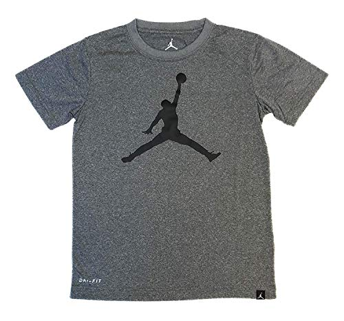 - Nike Air Jordan Boys Jumpman 23 Dri-Fit T-Shirt (Large, Carbon Heather)