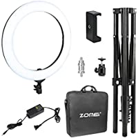 Zomei 18-inch LED Ring Light with stand Photography Makeup, Camera Photo Studio Video Shooting Heavy Duty Mount for DSLR, iPhone & Android Smartphones