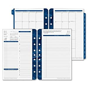 """FranklinCovey Monticello Dated Two-Page-per-Day Planner Refill, 5.5"""" x 8.5"""", 2013"""