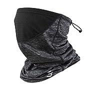 Polma Cooling Neck Gaiter Face Mask – Breathable Lightweight Dust & UV Sun-Protection Bandanas for Men Women Outdoors