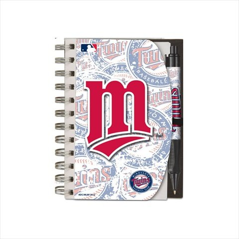Minnesota Note Twins - National Design Minnesota Twins Deluxe Hardcover 4 x 6-Inches Notebook and Grip Pen Set (12283-GBZ)