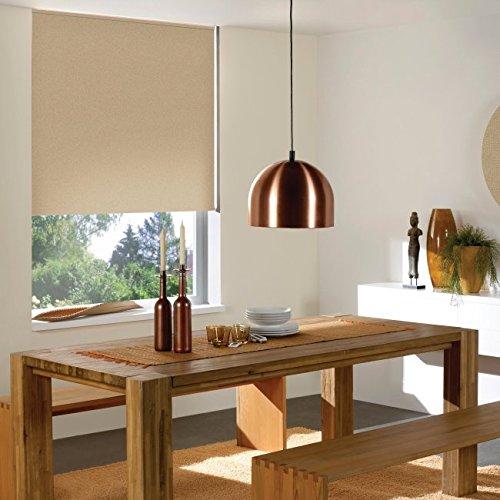 Windowsandgarden Custom Roller Shades, Any Size 19-96 Wide, 82W x 60H, Reminiscent Blackout Linen
