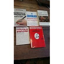 Lot de 5 livres : méthode de graphologie en quinze leçons - ABC de la graphologie - la nouvelle graphologie - la graphologie manuel pratique - découvrez la graphologie