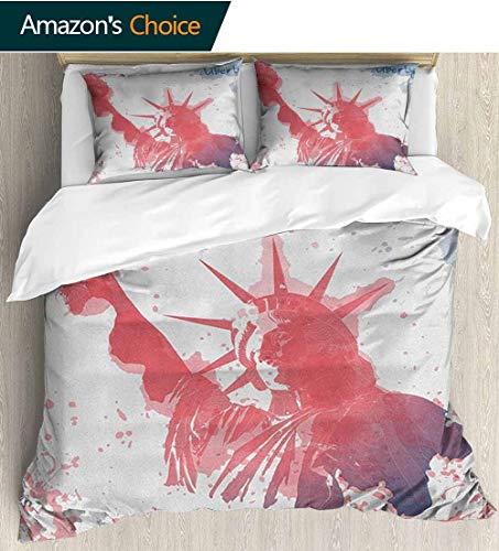 4Th Of July Duvet Covers Queen Grey,Box Stitched,Soft,Breathable,Hypoallergenic,Fade Resistant Kids Bedding-Does Not Shrink Or Wrinkle(68