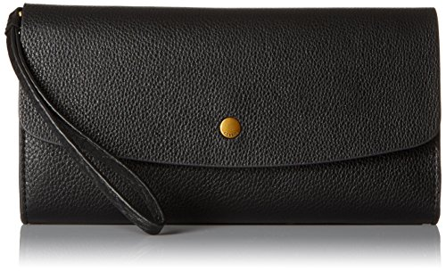 Fossil Haven Large Flap Wallet, Black, One Size