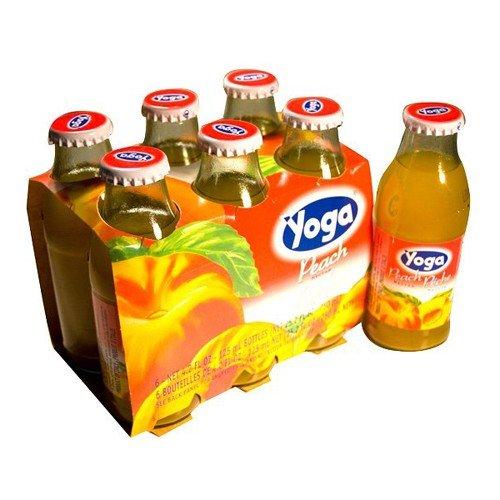 Yoga Juice Peach Nectar - 6 bottles of 4.2 oz Bottles [Twin Pack]