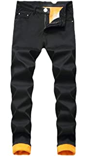Fubotevic Mens Moto Biker Ripped Holes Straight Leg Ruched Slim Fit Stretchy Denim Jeans Pants