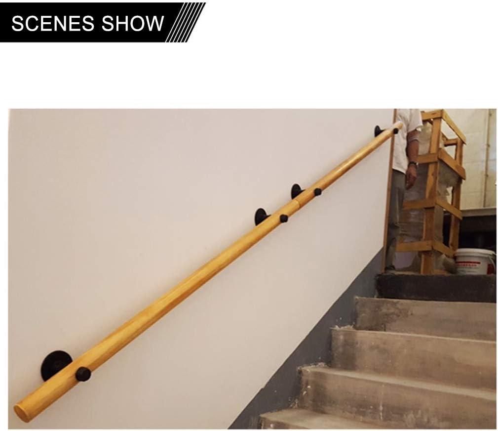 Tama/ño p 50-150cm Pasamanos Escalera Exterior Escalera Barandilla Madera Pasamanos de escalera de pared Seguridad Antideslizante Interior Loft Barandas para ancianos Pasamanos Soporte de pasillo,