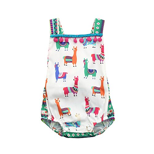 Hatoys Cute Animal Romper,Baby Girls Halter Sleeveless Jumpsuit Bodysuit Clothes (0-6Months, ()