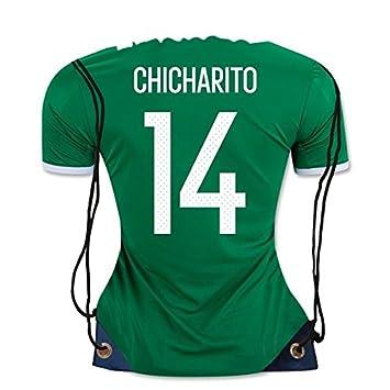 jerzehero México Chicharito   14 camiseta de fútbol forma cordón bolsa  mochila gimnasio bolsa ✓ Premium diseño único 10eac68c10380