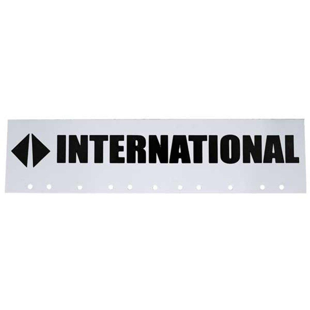 International Trucks Black & White 6' x 24' Semi Truck Mud Flap-quarter Fender Flaps AeroPro