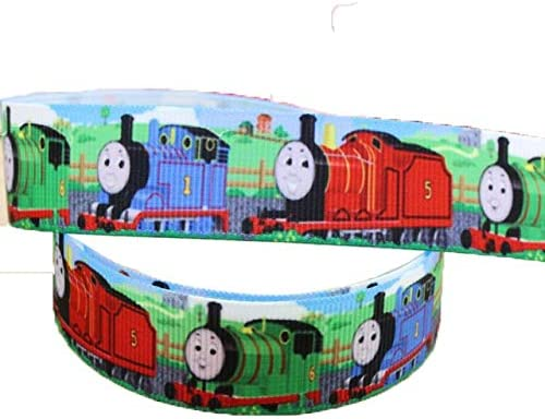 Astonishing 2M X 22Mm Wide Red Blue Green Thomas The Tank Engine For Personalised Birthday Cards Sponlily Jamesorg