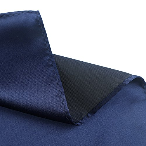 cc3683142f37 Fortunatever Classical Men's Solid Necktie With Gift Box+Pocket Square  (Denim)