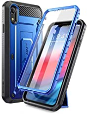 SUPCASE Unicorn Beetle Pro Series Case Designed for iPhone XR, with Built-in Screen Protector Full-Body Rugged Holster Case for iPhone XR 6.1 Inch (2018 Release) (DarkBlue)