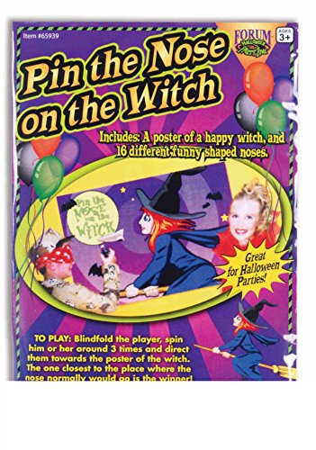 Pin the Nose on the Witch - Halloween Party Game (Halloween Pin The Tail)