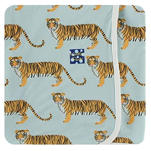 KicKee Pants Little Boys Print Swaddling Blanket - Spring Sky Tiger, One Size