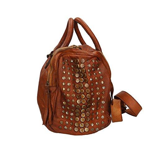 Chicca Borse Luxury Edition Handbag Vintage Borsa a Mano da Donna in Vera Pelle 100% Genuine Leather 34x28x16 Cm