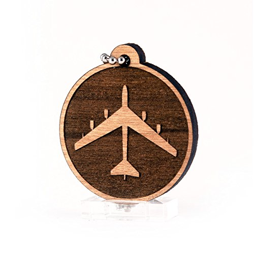 Sunset Design Lab B-52 Stratofortress V2 for USAF Air Force Military Planes Jets NASA Wood Laser Cut Keychain Charm Ornament