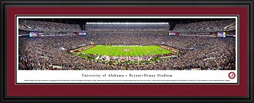 Alabama Football - 50 Yard - Blakeway Panoramas College Sports Posters with Deluxe Frame