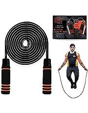 Phoenix Fitness Gewogen springtouw - 2 x 200 g Gewichten Jump Rope - Jumping Tangle-Free Rope - Gewogen touw voor vetverbranding, vetverlies, conditionering, intervaltraining, boksen, crossfit en MMA