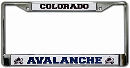 You/'re In Hockey Country Chrome METAL License Plate Frame Auto Accessory