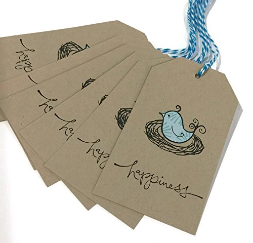 Rustic Gift Tags - Bluebird Gift Tags - Set of 6 - Paper Pieced Gift Tags - Package Gift Tags - Present Gift Tags - Product Packaging - Shabby Chic Gift Tags (Chic Tags Shabby)