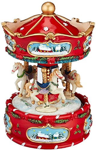 Musicbox Kingdom Winter Carousel Decorative Box (Decorative Carousel)